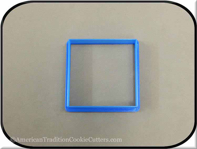 "3"" Square Biscuit 3D Printed Plastic Cookie Cutter"