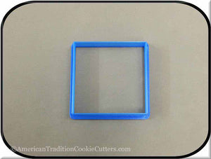 "3"" Square Biscuit 3D Printed Plastic Cookie Cutter - American Tradition Cookie Cutters"