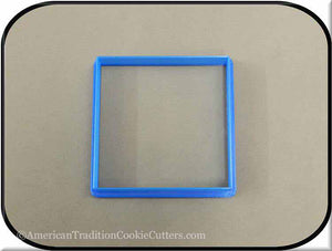 "3.5"" Square Biscuit 3D Printed Plastic Cookie Cutter"