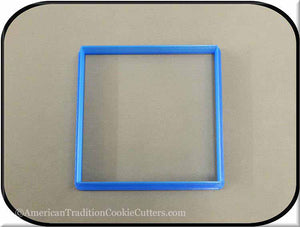 "4"" Square Biscuit 3D Printed Plastic Cookie Cutter-americantraditioncookiecutters"