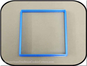 "4.5"" Square Biscuit 3D Printed Plastic Cookie Cutter"
