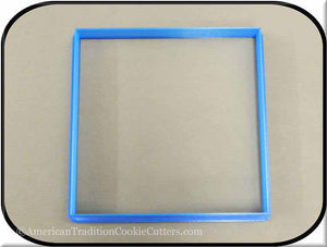 "5"" Square Biscuit 3D Printed Plastic Cookie Cutter-americantraditioncookiecutters"