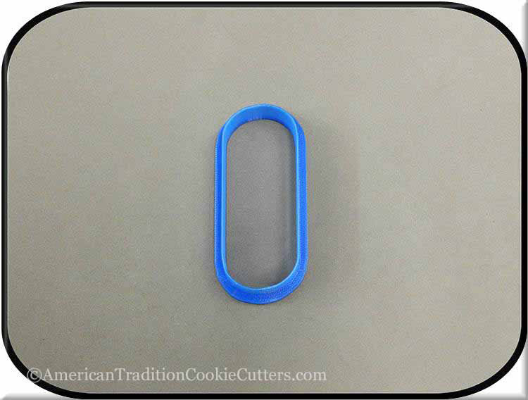 "3"" Oval Biscuit 3D Printed Plastic Cookie Cutter"