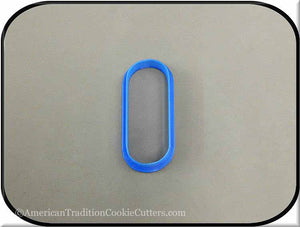 "3"" Oval Biscuit 3D Printed Plastic Cookie Cutter - American Tradition Cookie Cutters"