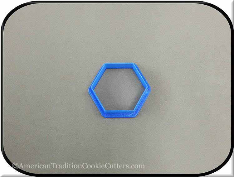"2"" Hexagon Biscuit 3D Printed Plastic Cookie Cutter-americantraditioncookiecutters"