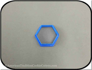 "2"" Hexagon Biscuit 3D Printed Plastic Cookie Cutter - American Tradition Cookie Cutters"