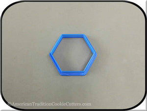 "2.5"" Hexagon Biscuit 3D Printed Plastic Cookie Cutter - American Tradition Cookie Cutters"