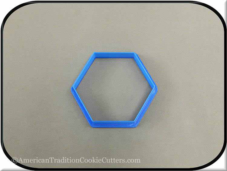 "3"" Hexagon Biscuit 3D Printed Plastic Cookie Cutter"