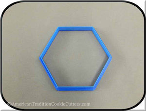 "4"" Hexagon Biscuit 3D Printed Plastic Cookie Cutter-americantraditioncookiecutters"
