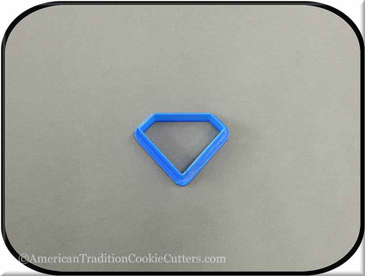"2"" Diamond Biscuit 3D Printed Plastic Cookie Cutter - American Tradition Cookie Cutters"
