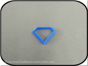 "2"" Diamond Biscuit 3D Printed Plastic Cookie Cutter-americantraditioncookiecutters"