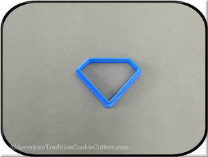 "2.5"" Diamond Biscuit 3D Printed Plastic Cookie Cutter - American Tradition Cookie Cutters"