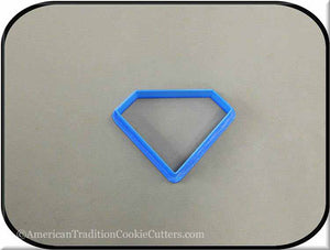 "3"" Diamond Biscuit 3D Printed Plastic Cookie Cutter - American Tradition Cookie Cutters"