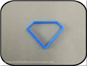 "3.5"" Diamond Biscuit 3D Printed Plastic Cookie Cutter"