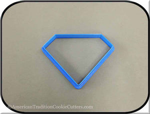 "4"" Diamond Biscuit 3D Printed Plastic Cookie Cutter-americantraditioncookiecutters"