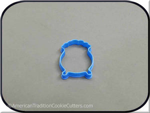 "2"" Mini Pot O Gold 3D Printed Plastic Cookie Cutter"