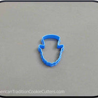 "2"" Mini Leprechaun 3D Printed Plastic Cookie Cutter - American Tradition Cookie Cutters"