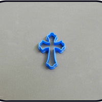 "2"" Mini Cross 3D Printed Plastic Cookie Cutter - American Tradition Cookie Cutters"