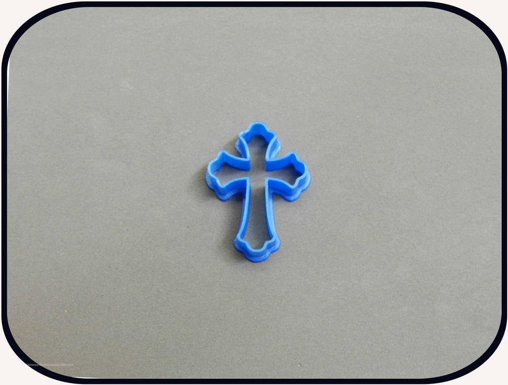 "2"" Mini Cross 3D Printed Plastic Cookie Cutter-americantraditioncookiecutters"
