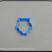 "2"" Mini Owl 3D Printed Plastic Cookie Cutter-americantraditioncookiecutters"