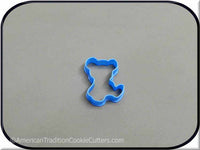 "2"" Mini Teddy Bear 3D Printed Plastic Cookie Cutter - American Tradition Cookie Cutters"