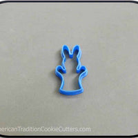 "2"" Mini Bunny Puppet 3D Printed Cookie Cutter"