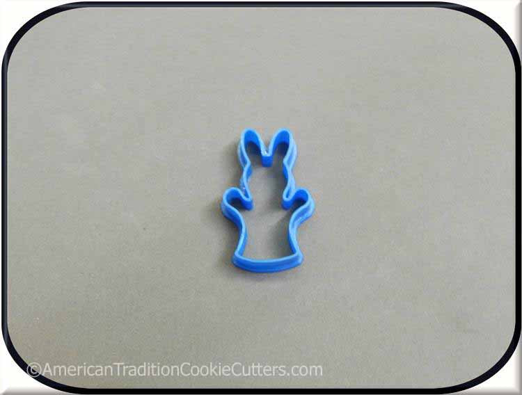 "2"" Mini Bunny Puppet 3D Printed Cookie Cutter - American Tradition Cookie Cutters"