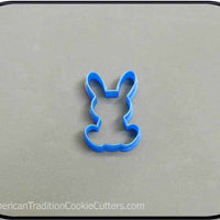 "2.25"" Mini Sitting Bunny 3D Printed Cookie Cutter - American Tradition Cookie Cutters"
