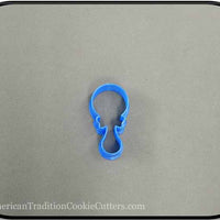"2"" Mini Baby Rattle 3D Printed Plastic Cookie Cutter - American Tradition Cookie Cutters"