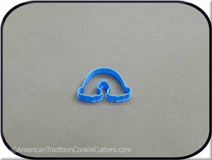 "2"" Mini Rainbow 3D Printed Plastic Cookie Cutter-americantraditioncookiecutters"