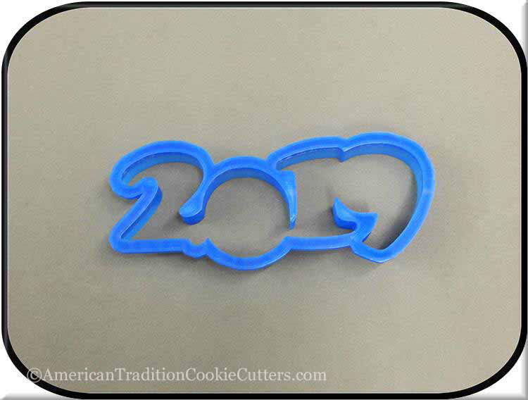 "5"" Year 2019 3D Printed Plastic Cookie Cutter"