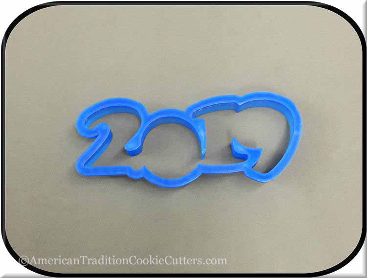 "5"" Year 2019 3D Printed Plastic Cookie Cutter-americantraditioncookiecutters"