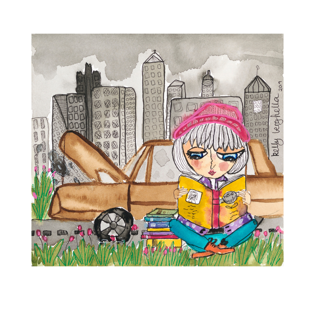 'Always Carry a Book' fine art print