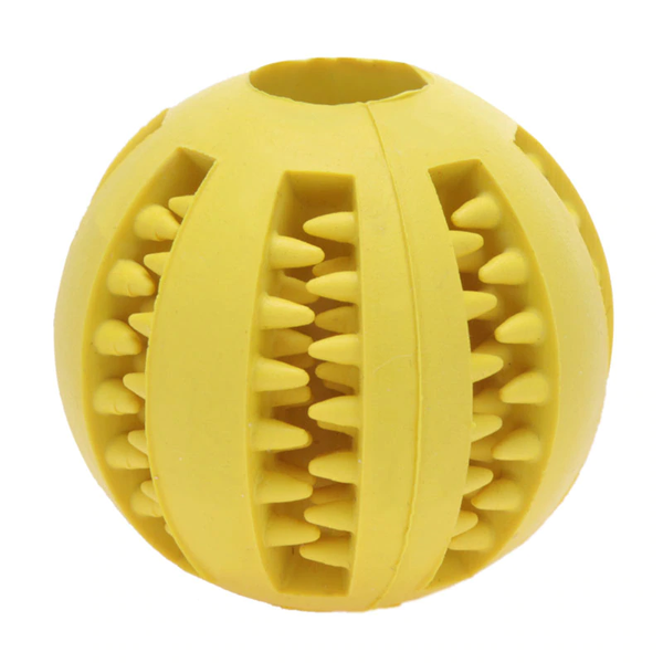 Bouncy Rubber Dental Treat Chew Ball For Dogs