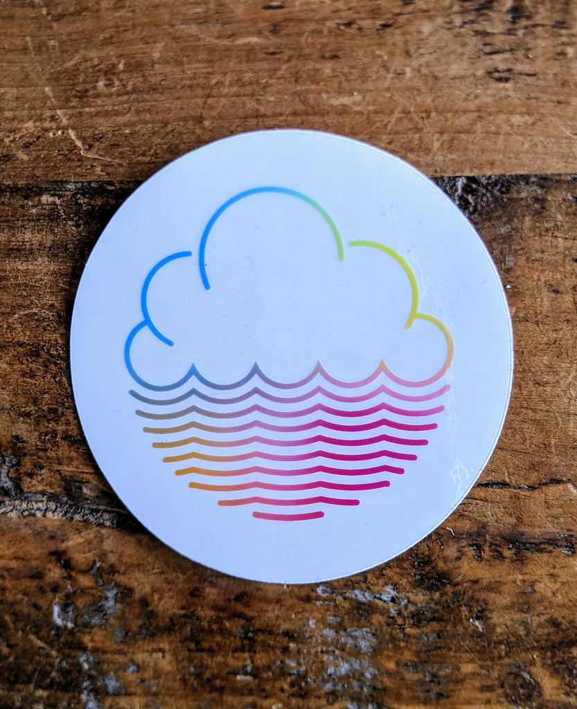 Cloudwater See-Through Coloured Vinyl Sticker 2 Pack