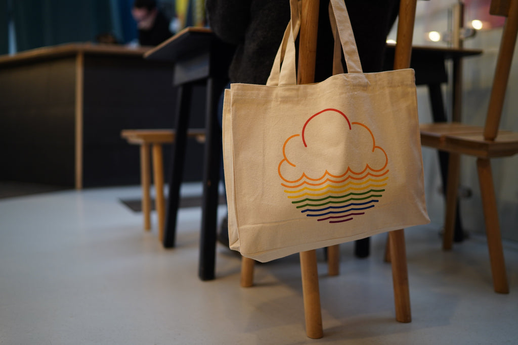 Cloudwater Large Tote Bag with Pride Logo