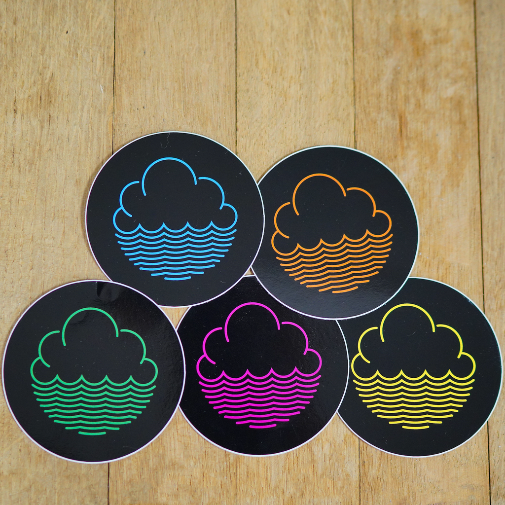 Cloudwater Vinyl Coloured Sticker Pack