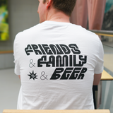 Friends & Family & Beer Unisex T-Shirt with Logo