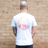 SS19 White Unisex T-Shirt with Back Logo