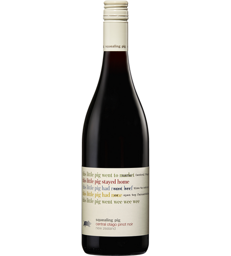 $114.00 per case (6) delivered - SQUEALING PIG Central Otago Pinot Noir 2019