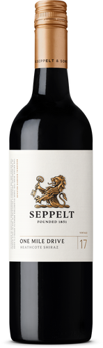 $120.00 per case (6) delivered - SEPPELT ONE MILE DRIVE Shiraz 2018