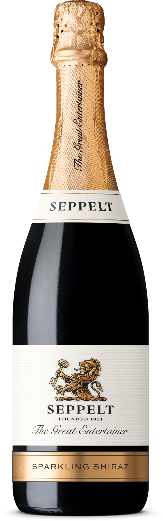 $78.00 per case (6) delivered - SEPPELT THE GREAT ENTERTAINER Sparkling Shiraz NV