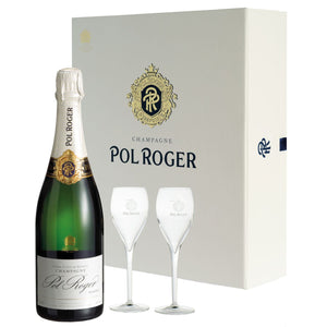 $140.00 delivered - Pol Roger Champagne Gift Pack