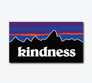 Patagonia KINDNESS Sticker
