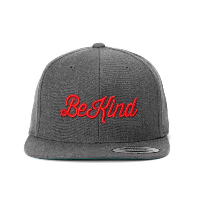 BE KIND Grey Snapback