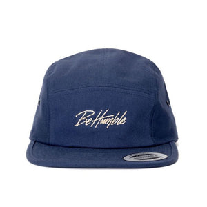 Be Humble Camper Hat Blue and Beige