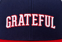 Load image into Gallery viewer, GRATEFUL - Blue & Red Snapback