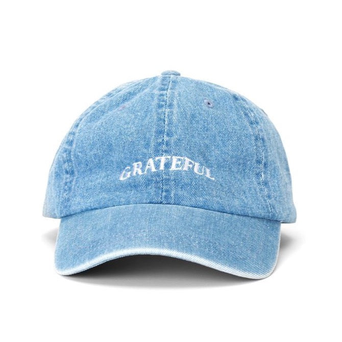 GRATEFUL Denim Dad Hat