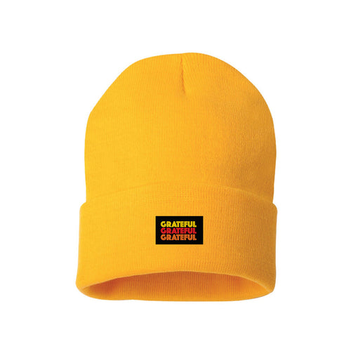 GRATEFUL BEANIE GOLD