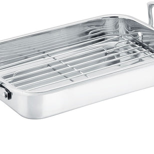 SCANPAN IMPACT ROASTING PAN/RACK 42X26X11CM